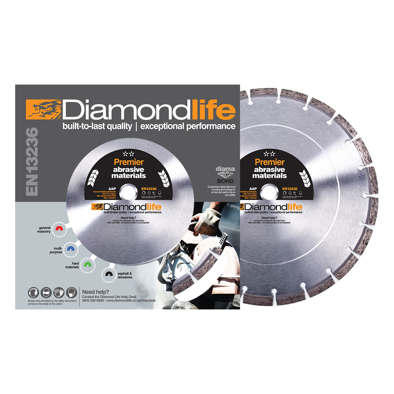 Diamond Cutting Blades. Abrasive Material Premier Range AAP