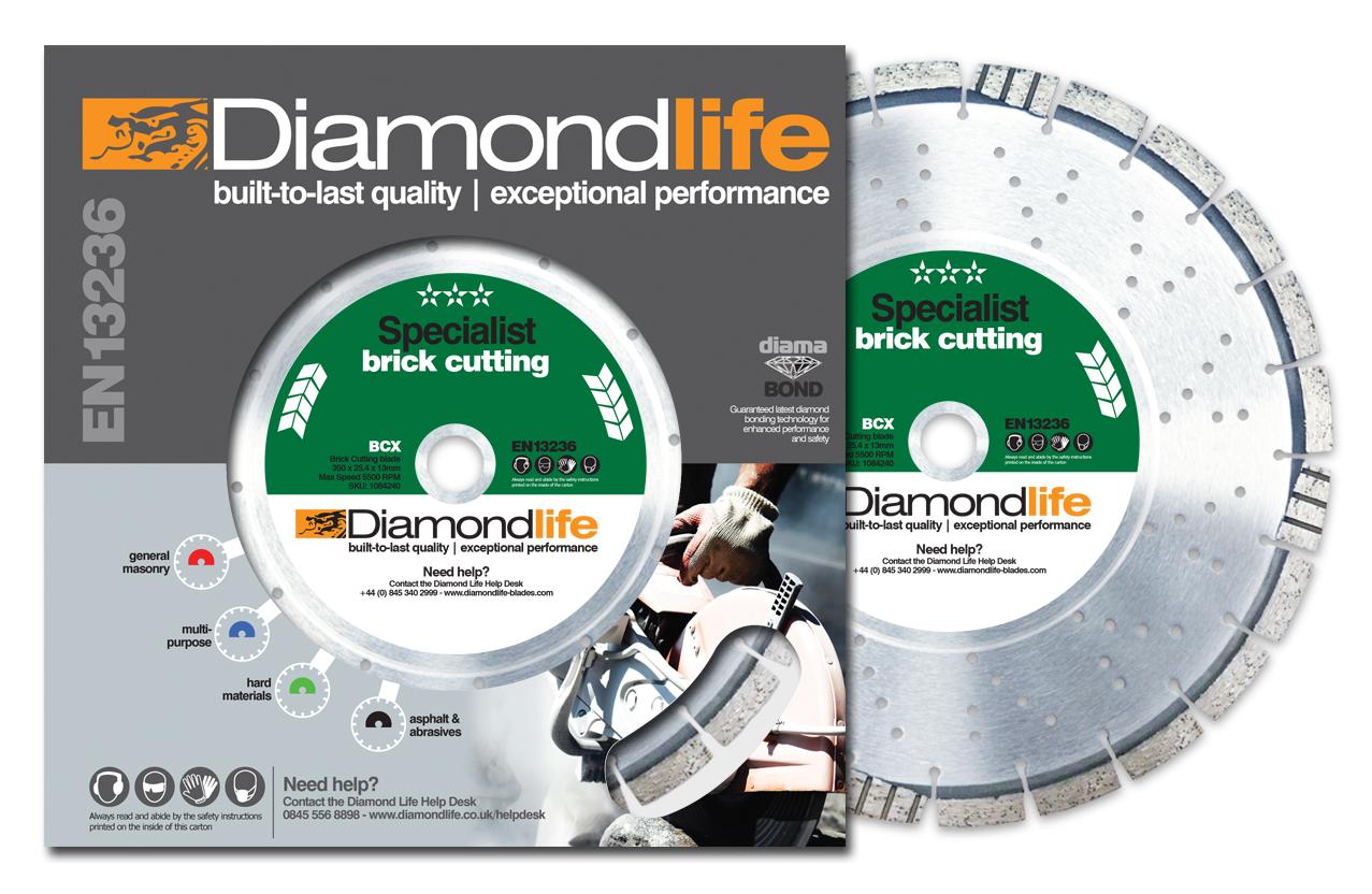 Global Diamond's BCX Specialist Brick Cutting blade
